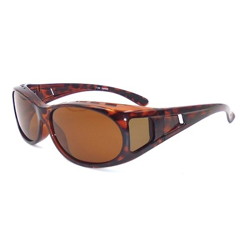 Fit over sunglasses with polarized lens for women, oval shaped lens and with side lens-J1309